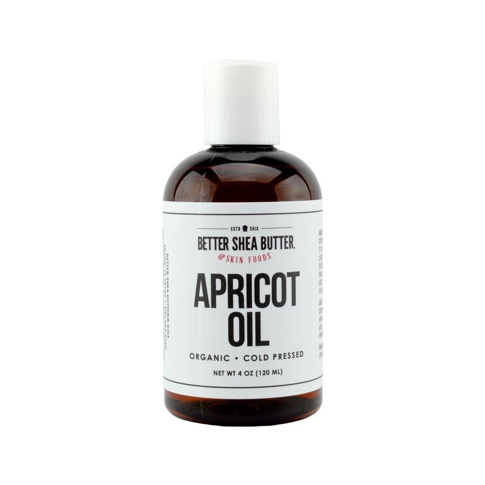 Organic Apricot Oil - 100% Pure and Cold Pressed - Ideal for Sensitive and Prematurely Aging Skin - Great Carrier Oil for Body Butters, Face Scrubs, Serums & More - 4 oz