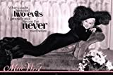 Mae West Two Evils Quote Poster 24 x 36 inches