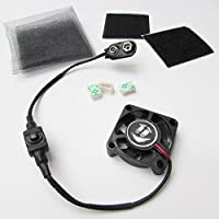 TINY COOLING FAN KIT for Airsoft Mask Paintball Helmet 9 volt Battery power 1.5