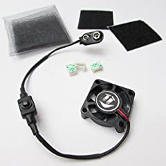 9V Battery Operated Costume Mask Cooling Fan KitThis kit allows you to quickly and easily ventilate a mask or helmet! This light and quiet fan is ideal for small spaces, and lasts 8+ hours on a fresh Duracell battery (not included). For best ...