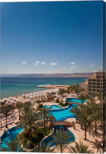 Jordan, Aqaba, Red Sea and Eilat, Resort by Walter Bibikow/Danita Delimont Canvas Art Wall Picture, Gallery Wrap, 14 x 21 inches