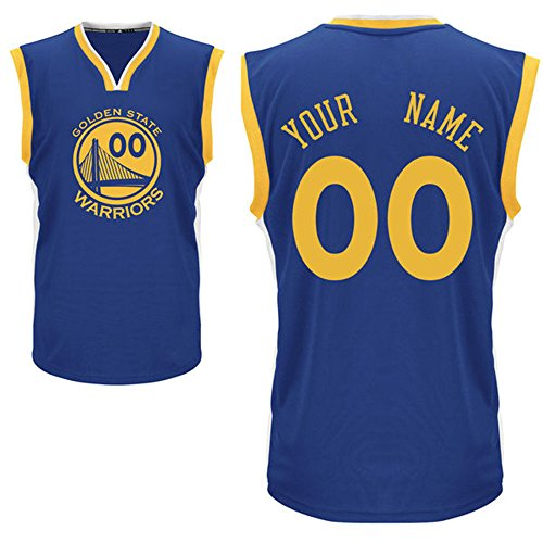 Youth Golden State Warriors Royal Custom Replica Basketball Jersey Patrick McCaw #0 Size M