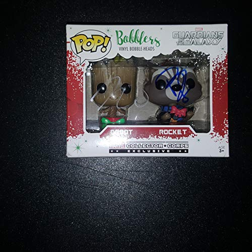 Christmas Groot Funko Pop.Vin Diesel And Bradley Cooper Autographed Signed Groot And