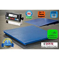 Digiweigh Floor Scale/Heavy Duty Platform 48X48,10000X 1LB,Digital Indicator,1 Ramp, Brand New