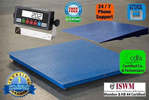 Floor/Pallet/Platform 5000 LB by 0.5 LB 48 x 48 Inches Floor Scale with 1 Ramp NEW (Electronic Floor)