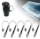 MegaGear 5 Pieces Lens Cap Leash Lens Cap Keeper Holder /Safety Cord For SONY CANON NIKON OLYMPUS PENTAX AND ALL LENS CAPS