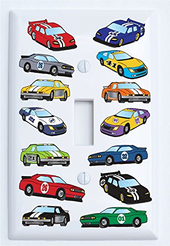 Stock Race Car Light Switch Plate Covers Single Toggle/Race Car Room Decor (Single Toggle Switch Plate)]()