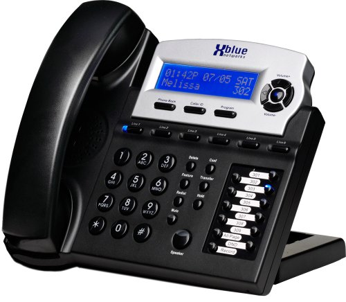 x16 6 line small office phone system with 8 charcoal x16