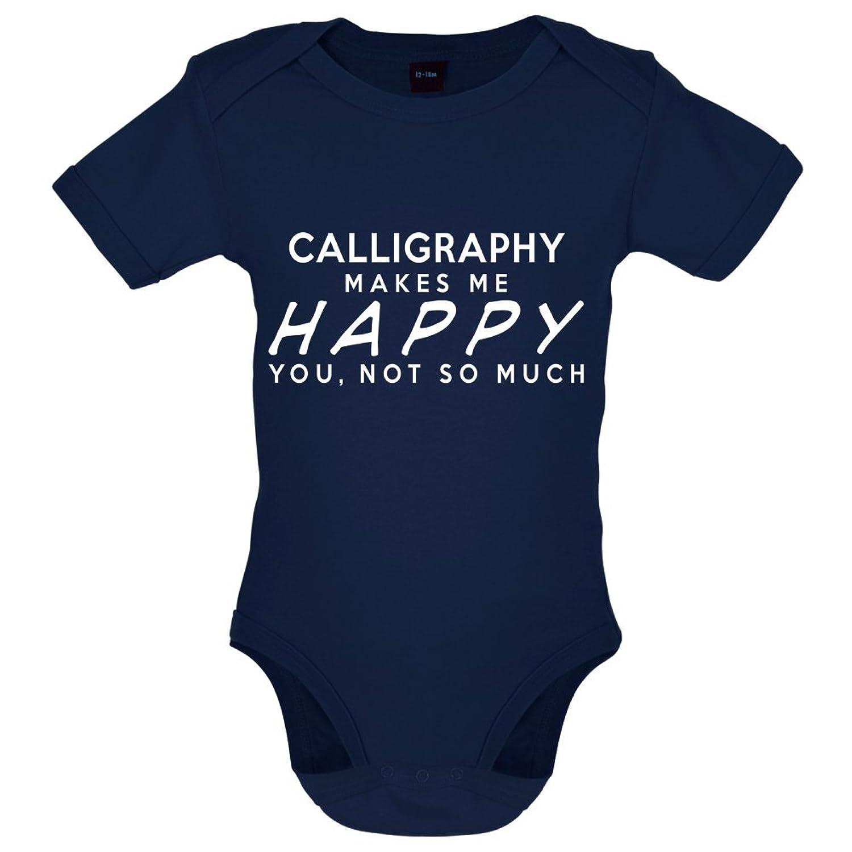 Calligraphy Makes Me Happy - Bébé-Body - 7 Couleur - 0-18 mois