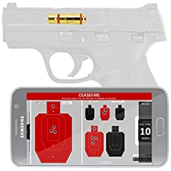 WARNING FOR ANDROID USERS: MAKE SURE YOU PHONE SUPPORT HD CARTRIDGE BEFORE PURCHASE (Download LASERHIT app on Google Play to check compatibility)HOW IT WORKSTake aim at the LaserHIT paper target with your firearm loaded with the laser trainin...