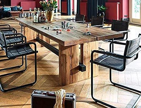 Amazon.com - WEEKAN Dining Table Modern Solid Wood ...