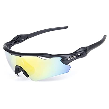 5b1e0f94ca9 Lorsoul UV400 Polarized Sunglasses Sports Glasses with 5 Interchangeable  Lenses for Men Women Outdoor Sports Cycling
