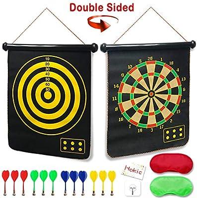 Amazon.com: Juego de tablero de dardos magnético reversible ...