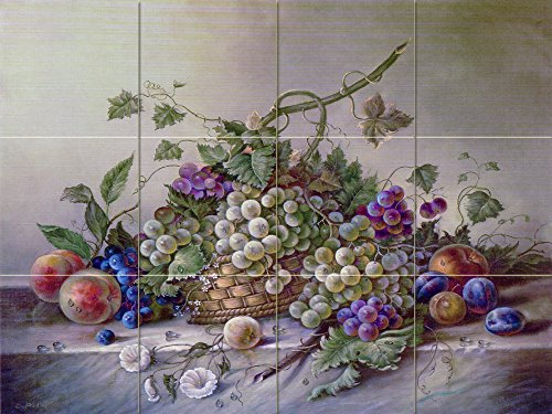 Ceramic Tile Mural - Fruit Bouquet II - by Corrado Pila - Kitchen backsplash / Bathroom shower