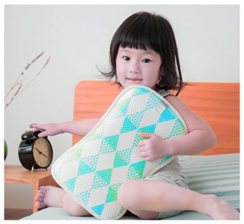Gycinda Washable 3d Baby Pillow Breathable Antibacterial And Prevention Mite Rectify Baby Cervical Vertebra (blue)