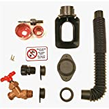 EarthMinded DIY Rain Barrel Diverter Kit - Water Barrel / Rain Barrel Adapter Kit, Includes Spigot and Downspout Diverter For 3 x 4 Inch Downspouts - F-RN097