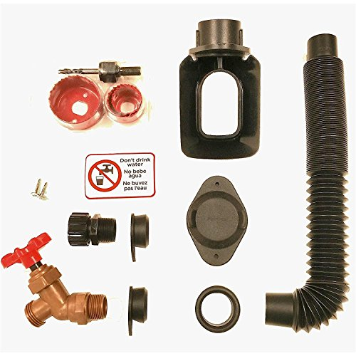 Collection Spout - EarthMinded DIY Rain Barrel Diverter and Parts Kit for 3 x 4 Inch Rectangular Downspouts - Water Collection System to Convert Containers into Rain Barrels - Catch Rain Water for Outdoor Chores