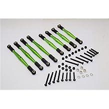 Gmade Komodo Upgrade Parts Aluminum 4mm Anti-Thread Upper+Lower Link Parts - 8Pcs Set Green