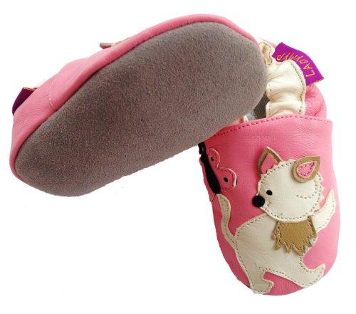 LadyMYP© Krabbelschuhe, Lernlaufschuhe, Lederpuschen: Kätzchen Rosa