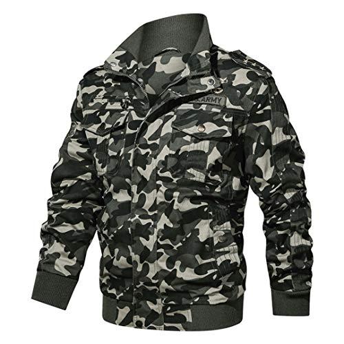 Veste Tactique Hommes Coton Camouflage Militaire Bomber Pilot Vestes Manteaux Vestes Cargo Travail 4