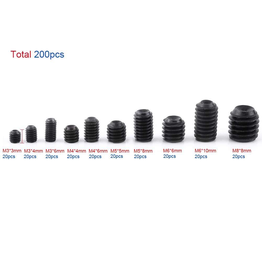 M2, M3, M4, M5, M6 - verschiedene Längen Begadi Universal Inbus Schrauben Set