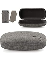 85f17c83108 Hard Shell Eyeglasses Case Linen Fabrics Large Sunglasses Case Concise
