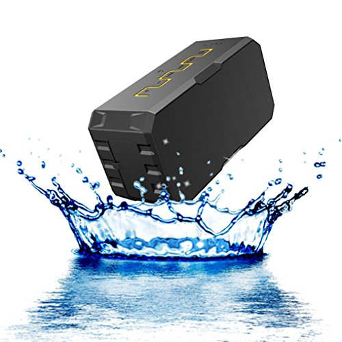 Waterproof Bluetooth Speaker with TF Card Mic for Swimg Pool Music (Yellow) (Mic Prom Dresses)