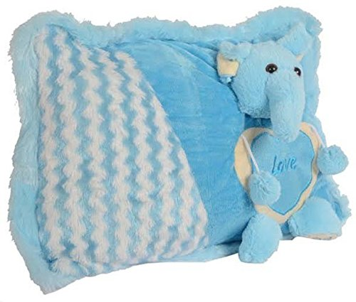 Softies Soft Stuffing Cute Looking Pillows (Blue)