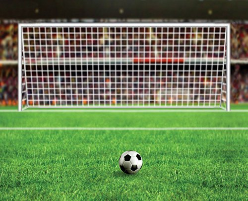 JP London uStrip Peel and Stick Mural MD4139PS Soccer World Cup Fifa Net Kick Removable Football Mural, 10.5-Feet by ()
