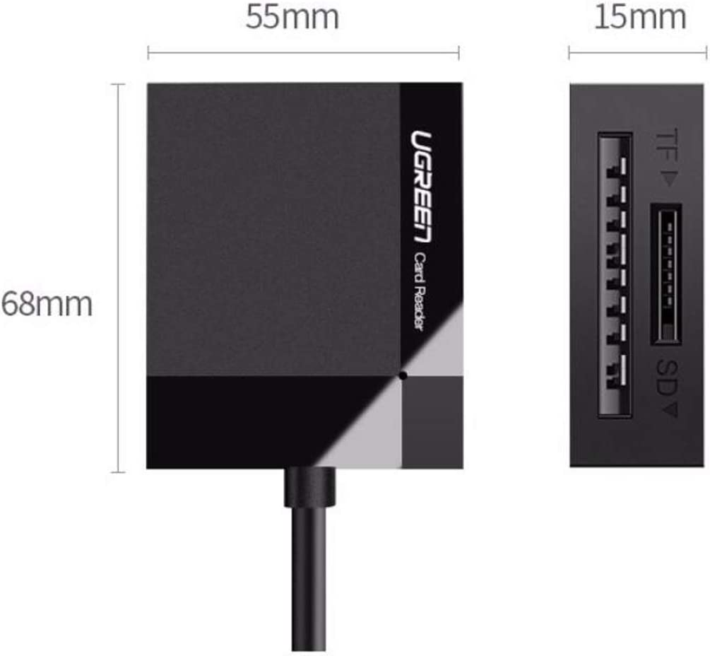 USB3.0 High Speed Card Reader Yougou01 Card Reader Support SD//TF//CF//MS Type Color : Black