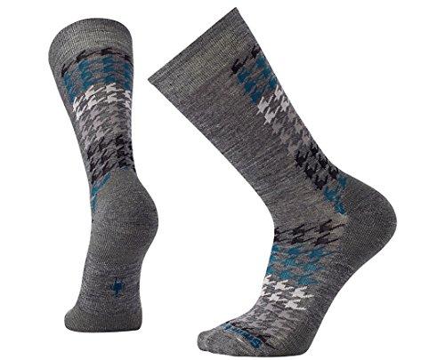 Smartwool Men's Houndstooth Crew Socks (Medium Gray Heather) Large