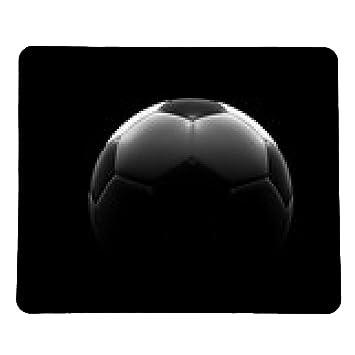 alfombrilla de ratón balón de fútbol sobre fondo negro: Amazon.es ...