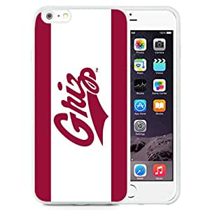 New Fashion Custom Designed Cover Case For iPhone 6 Plus 5.5 Inch Phone Case With NCAA Big Sky Conference Football Montana Grizzlies 1 Protective Cell Phone TPU Cover Case for Iphone 6 Plus Generation 5.5 Inch White