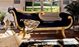 Ancient Egyptian Antique Replica Hand-carved Royal Chaise Lounge Indoor