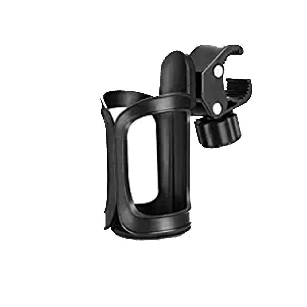 Wenini Bike Cup Holder/Stroller Bottle Holders, Universal Cup Holder, Large Caliber Designed Cup Holder, 360 Degrees Universal Rotation Cup Drink Holder (Black)