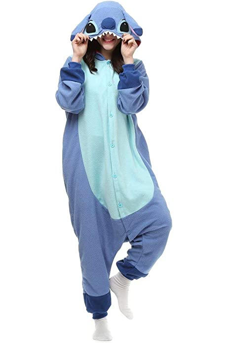 Amazon Com Lilo Stitch Onesie Costume For Adult Men Women Clothing