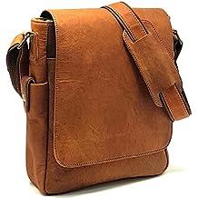 Purple Relic: NEW ARRIVAL 11 inch Sturdy Vintage Leather Man Bag iPad Bag Laptop Messenger Satchel Sling City Flapover Bag