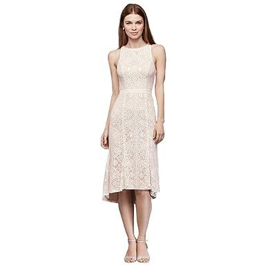cc6649d38fd0 Knee-Length Lace Sheath Dress with Flounce Hem Style SDWG0609, Ivory, 6