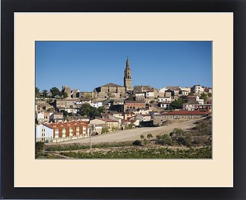 Framed Print of Spain, La Rioja Region, La Rioja Province, Briones, town view by Fine Art Storehouse