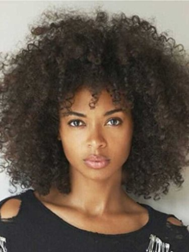 Long Afro curly Hairstyle Synthetic Hair
