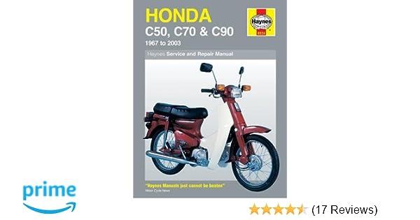 Honda c50 c70 c90 1967 2003 haynes service repair manual honda c50 c70 c90 1967 2003 haynes service repair manual haynes 9781844253753 amazon books fandeluxe Images