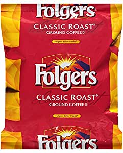 Folgers Classic Roast Coffee Filter Packs, 0.9 Oz (Pack of 40)