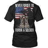 1Nation Thank A Soldier Tshirt - M - Black - Hanes Tagless Tee