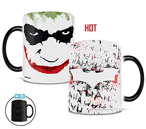 The Dark Knight - A Smile on that Face - Morphing Mugs Heat Sensitive Mug - Ceramic Color Changing Heat Reveal Coffee Tea Mug - by Trend Setters Ltd.]()