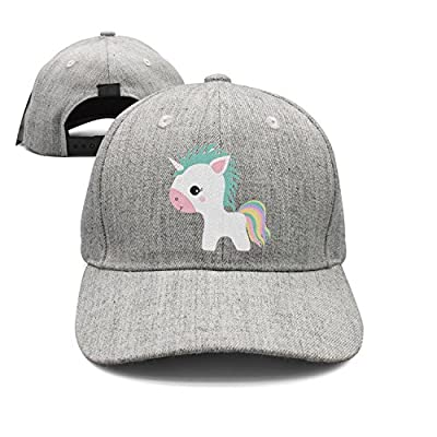 Cute Unicorn Woolen Peak Cap Snapback Hat Summer Hats