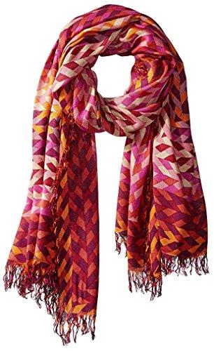 Theodora & Callum Women's Braid Gypsy Fringe Scarf, Pink by Theodora & Callum