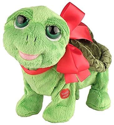 """Chantilly Lane """"Flirtle Turtle Walking Plush, Dancing Turtle Sings Do You Love Me Plush, 12"""""""