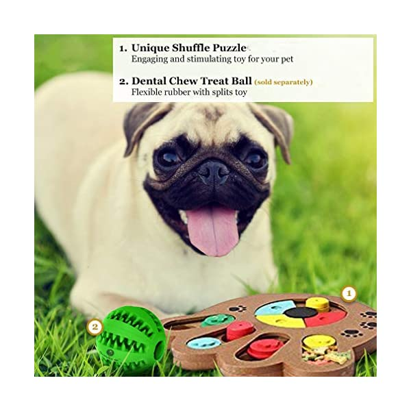 MEISO Unique Shuffle Puzzle Smart Toy for Puppies - Improve Concentration - Reduce hyperactivity - Fun Interactive IQ Game to Hide Treats in - Encourage Mental & Physical Skills of Pets 4