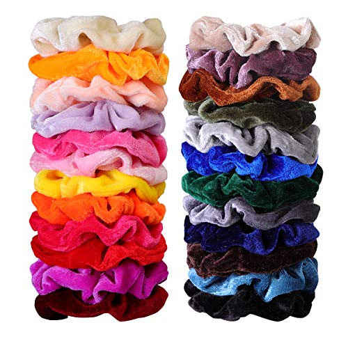 deal 50 pcs hair scrunchies velvet elastic hair bands