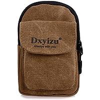 Kimloog Unisex Retro Alphabet Zipper Waist Pack Casual Canvas Belt Pouch Hang Package Phone Waist Bags with Hoo